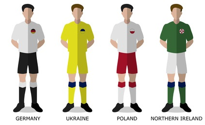 EM 2016 Gruppe C Mannschaften