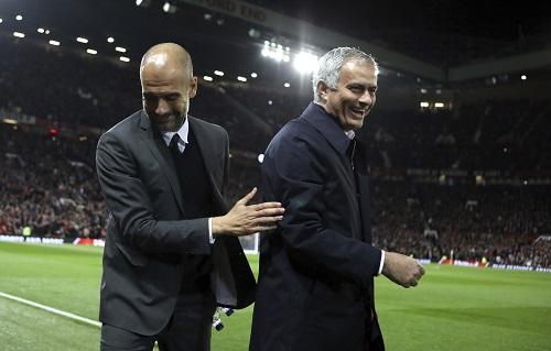Guardiola & Mourinho - credits: Dave Thompson / AP / picturedesk.com