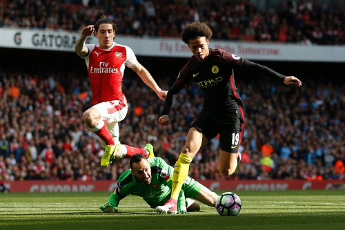 Leroy Sane vs Arsenal - credits: IAN KINGTON / AFP / picturedesk.com