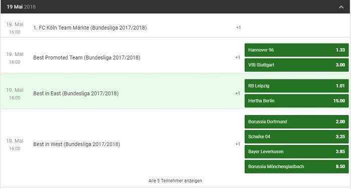Unibet Bundesliga Langzeitwetten