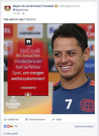 Leverkusen Facebook Hernandez Zitat