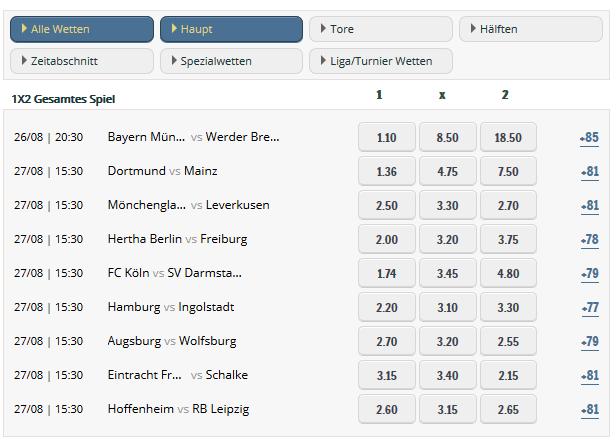 Sunmaker Bundesliga Wetten