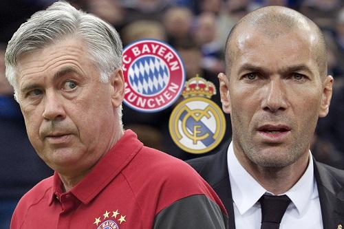 Ancelotti & Zidane - Rene Traut / dpa Picture Alliance / picturedesk.com - 20170317_PD2064 (RM)