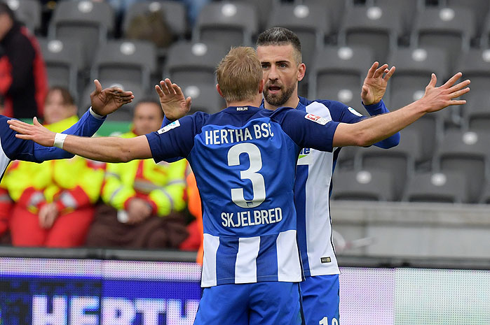 20170422_PD4724 (RM) Per Skjelbred Vedad Ibisevic Hertha BSC © City-Press / dpa Picture Alliance / picturedesk.com