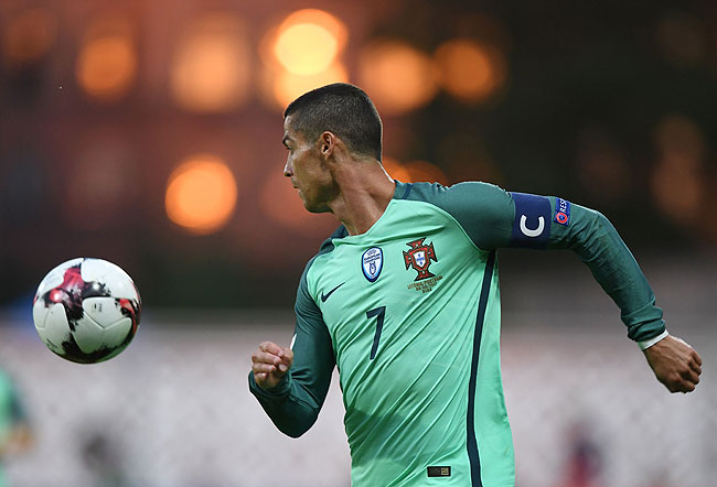 20170609_PD9039 (RM) Cristiano Ronaldo Portugal © JANEK SKARZYNSKI / AFP / picturedesk.com