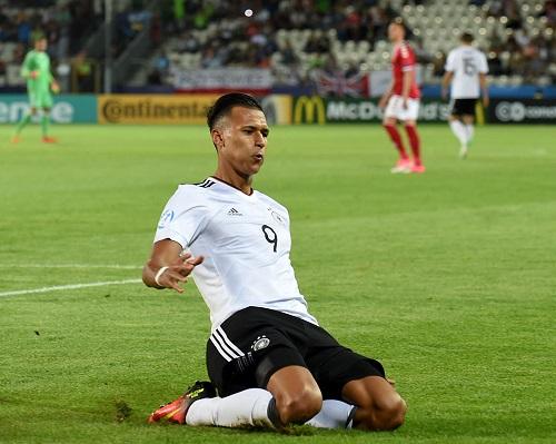 Davie Selke Deutschland U21 © JANEK SKARZYNSKI / AFP / picturedesk.com