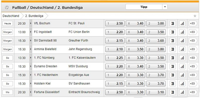 Bet 3000 2. Bundesliga Wetten