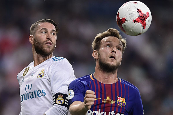 20170816_PD4593 (RM) Ivan Rakitic Barca Sergio Ramos Real © JAVIER SORIANO / AFP / picturedesk.com