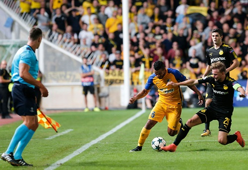 Marcel Schmelzer vs APOEL - credits: FLORIAN CHOBLET / AFP / picturedesk.com