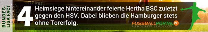 Bundesliga Fact Hertha 4 Heimsiege in Folge gegen HSV