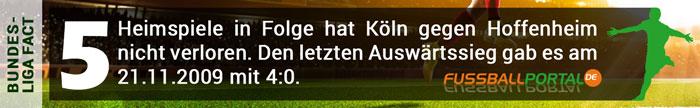 Fact 1. FC Köln - Hoffenheim