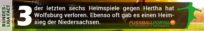 Fact Wolfsburg - Hertha