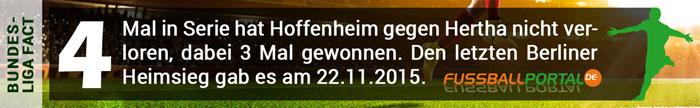 Fact Hertha - Hoffenheim