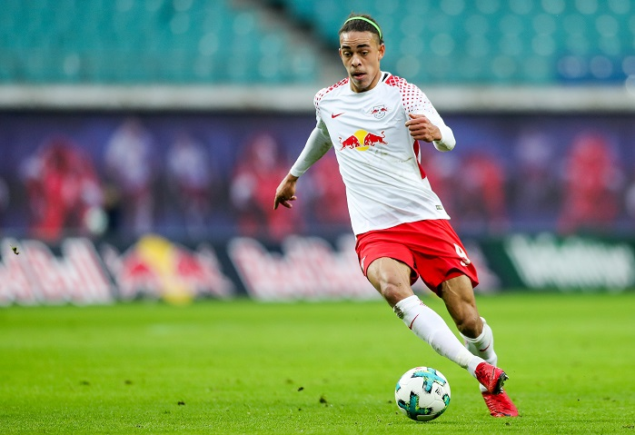 20180106_PD14597 (RM)  Yussuf Poulsen RB Leipzig  Jan Woitas / dpa / picturedesk.com