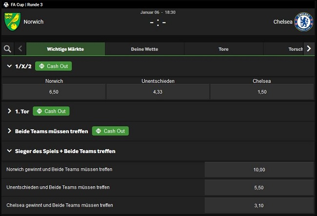 FA Cup Wetten Betway
