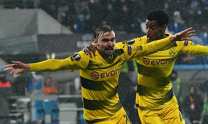 20180222_PD14493 (RM) Schmelzer Borussia Dortmund Jubel © VINCENZO PINTO / AFP / picturedesk.com
