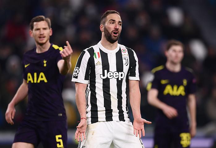 20180213_PD10875 (RM) Juventus Gonzalo Higuain Tottenham © MARCO BERTORELLO / AFP / picturedesk.com