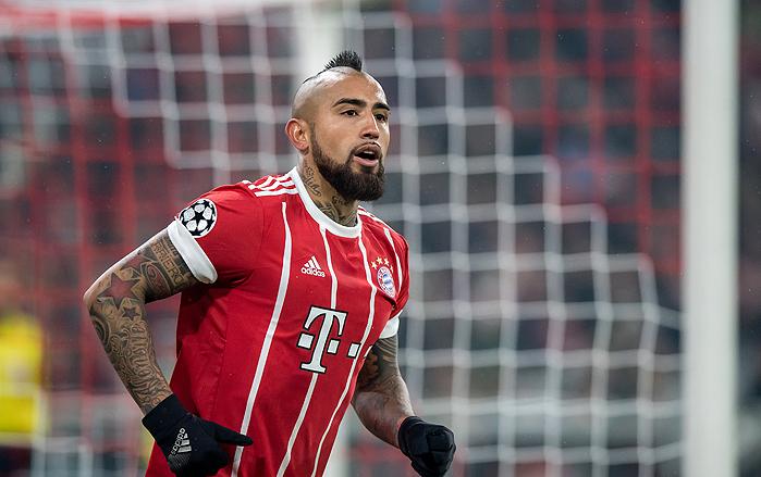20180220_PD22196 (RM) Bayern München Arturo Vidal © Thomas Eisenhuth / dpa / picturedesk.com