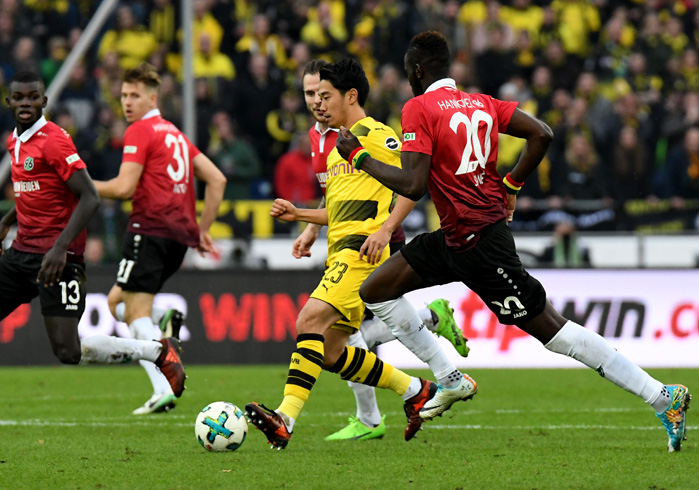 Kagawa vs Hannover - © Peter Steffen / dpa / picturedesk.com