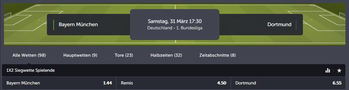ComeOn Bundesliga Wetten
