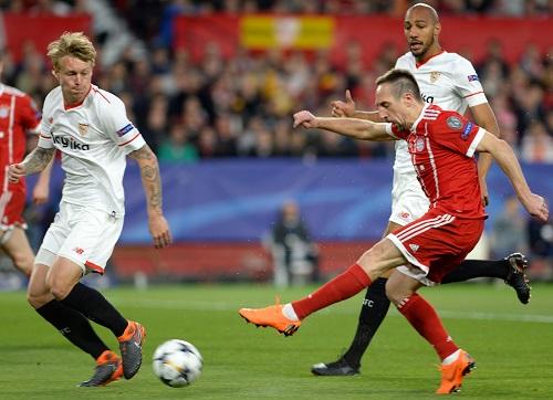 Franck Ribery vs Sevilla - © CRISTINA QUICLER / AFP / picturedesk.com