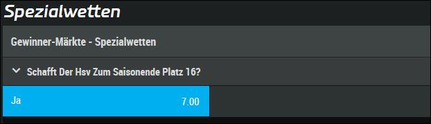 HSV Relegation Spezialwette Mybet