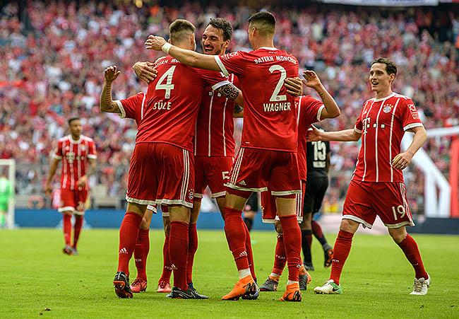 20180428_PD4019 (RM) Jubel Bayern München © Matthias Balk / dpa / picturedesk.com