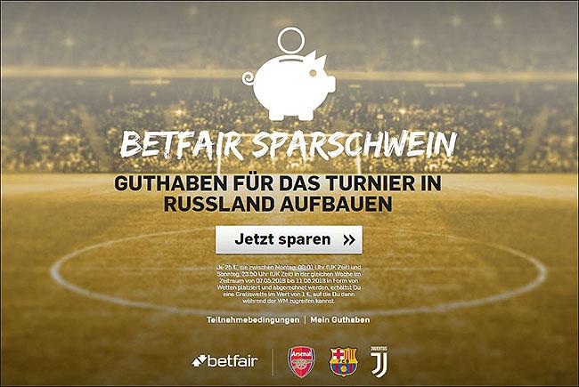 Grafik WM 2018 Wetten Betfair Sparschwein