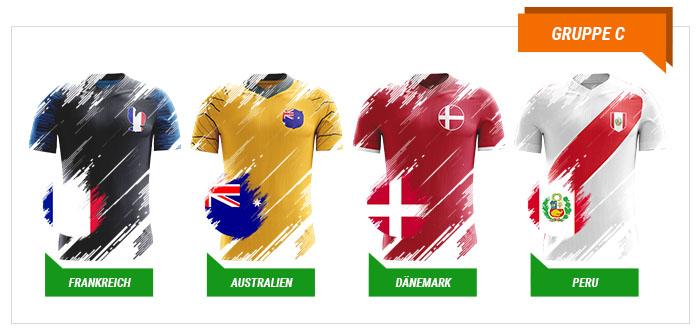 WM 2018 Wetten Gruppe C