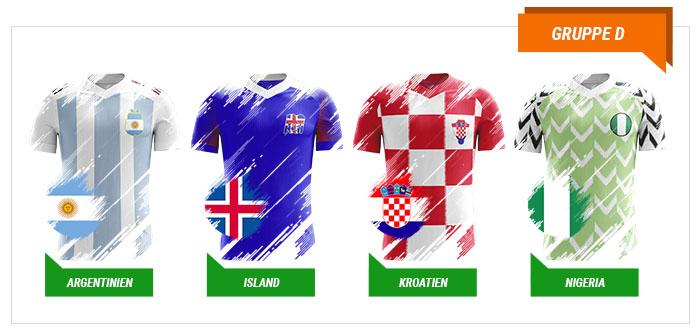 WM 2018 Wetten Gruppe D