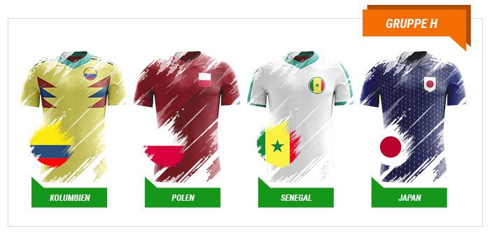 WM 2018 Wetten Gruppe H