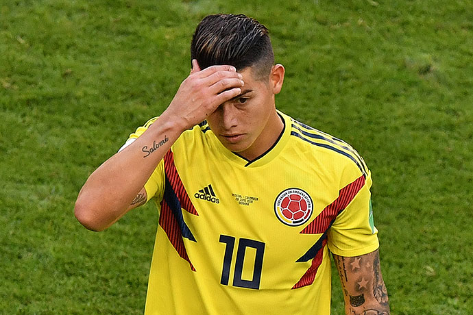 20180628_PD4928 (RM) James Rodriguez Kolumbien © FABRICE COFFRINI / AFP / picturedesk.com