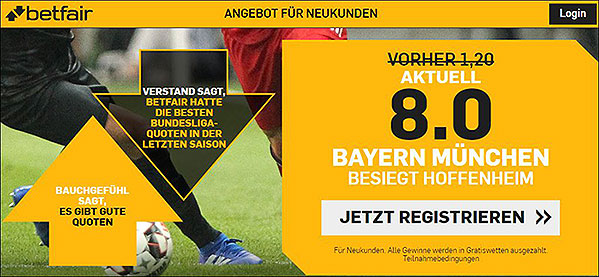 Grafik Betfair Quotenboost Bundesliga Bayern besiegt Hoffenheim