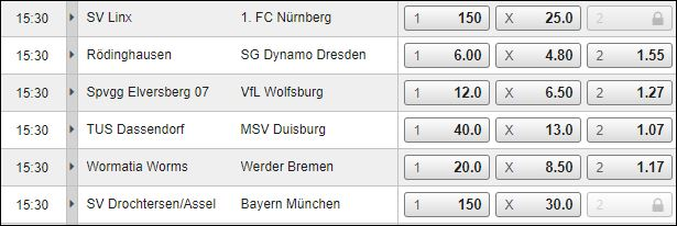 DFB-Pokal bei Bet3000