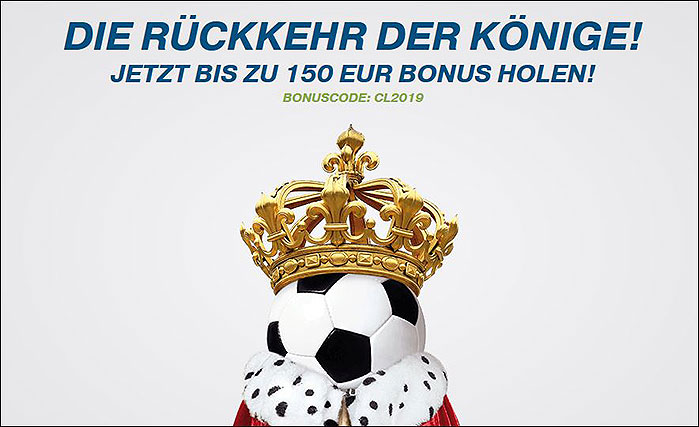 Screenshot zeigt den Bet-at-Home Champions League Bonus
